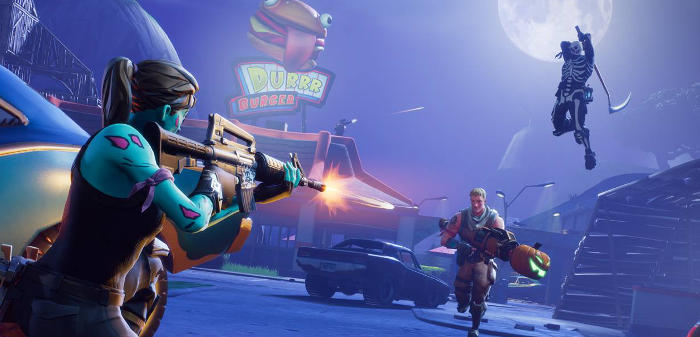 Jeu Fortnite Battle Royale sur mobile IOS