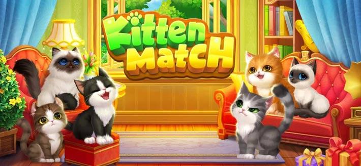 Kitten Match, un match3 avec de mignons chatons