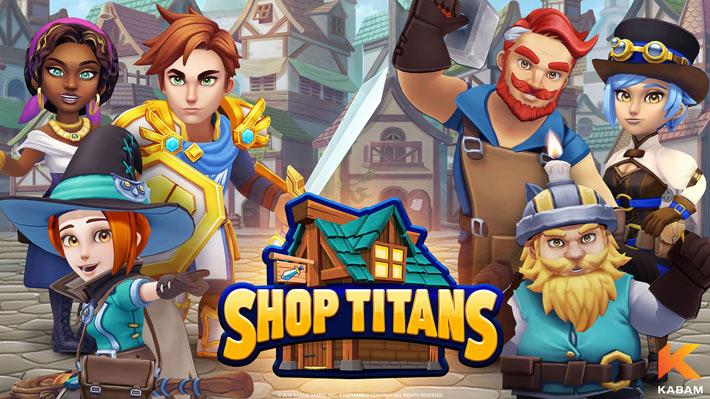 Shop Titans : Fabrication & Commerce, jeu mobile gratuit