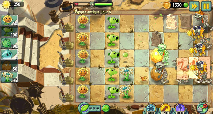 En egypte : Plants vs Zombies 2