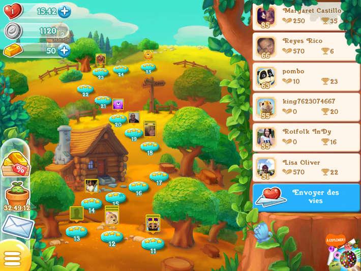 carte des niveaux : Farm Heroes Super Saga