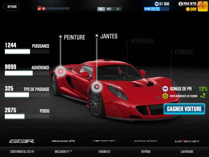Venom GT dans CSR Racing 2