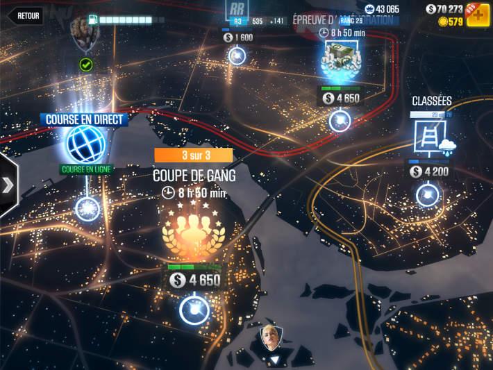 La carte de la ville dans CSR 2