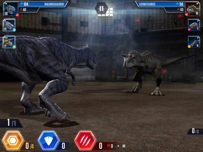 Les combats dans Jurassic World: Le jeu