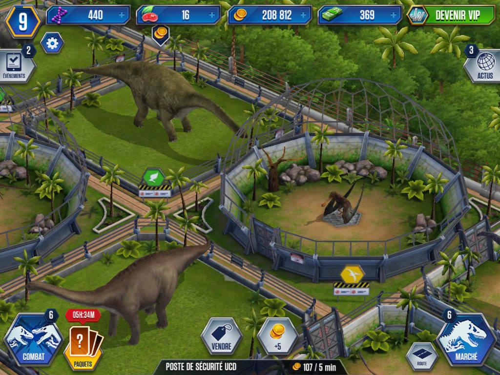 Test jeu jurassic world g rer un parc de dinosaures pour - Jeux de jurassic park 3 ...