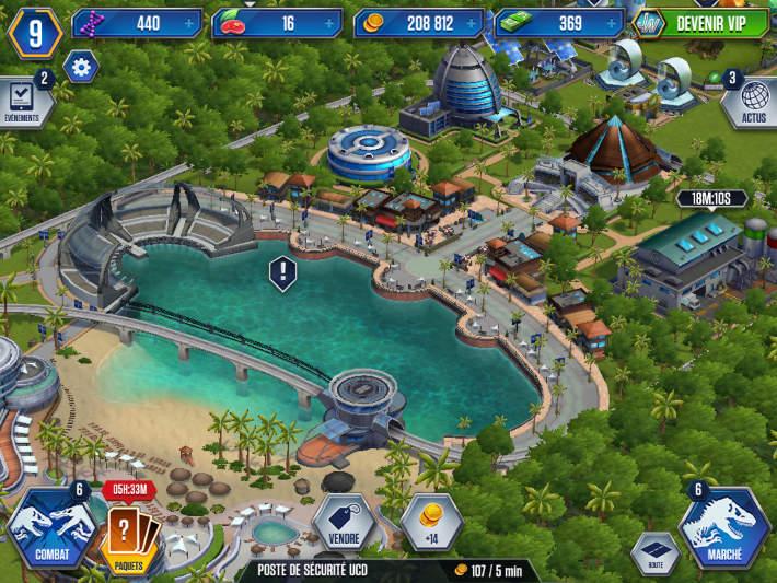 Le parc dans Jurassic World: Le jeu