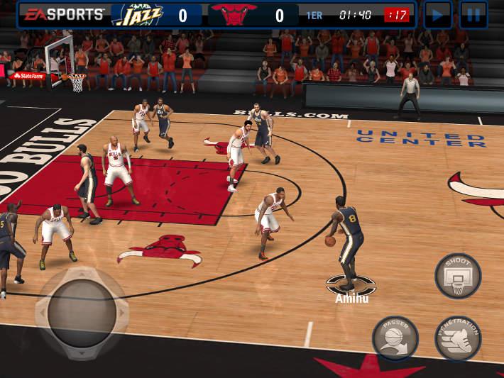 Matchs dans NBA Live Mobile