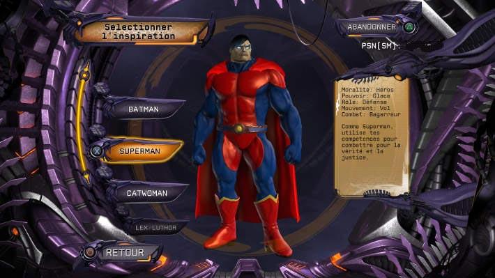 Création d'un super-héros inspiré de Superman : DC Universe Online