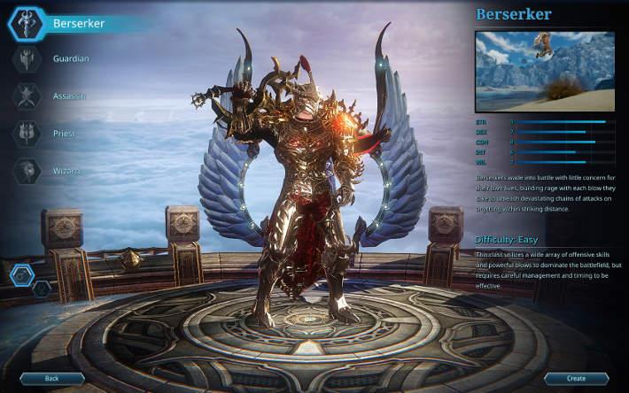 le berserker dans Riders of Icarus