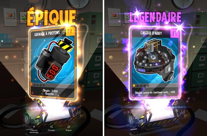 cartes de boost et d'équipement : Ghostbusters