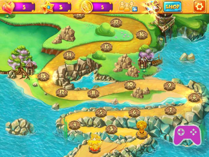 carte de tous les niveaux dans Mahjong Fairy Tiles
