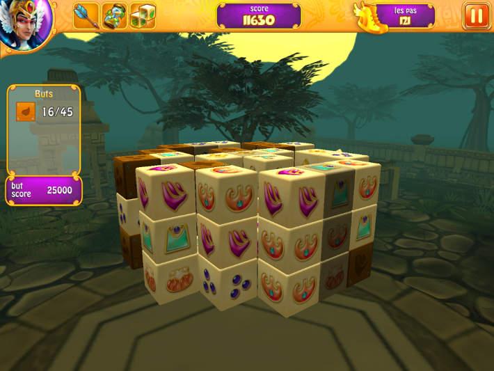 Exemple de Mahjong en 3D sur Mahjong Fairy Tiles
