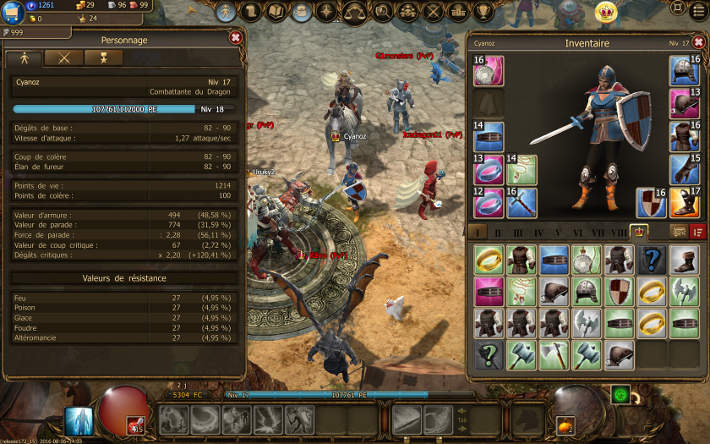 Inventaire dans Drakensang Online