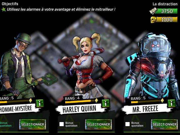 Les super-vilains recrutés sur Batman: Arkham Underworld