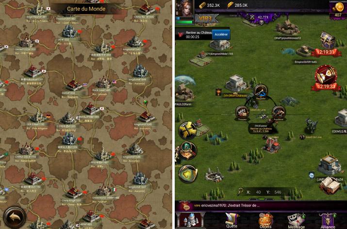 La map dans Clash of Kings