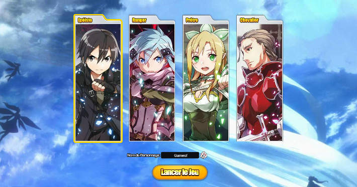 Choisir sa classe dans SAO's Legend
