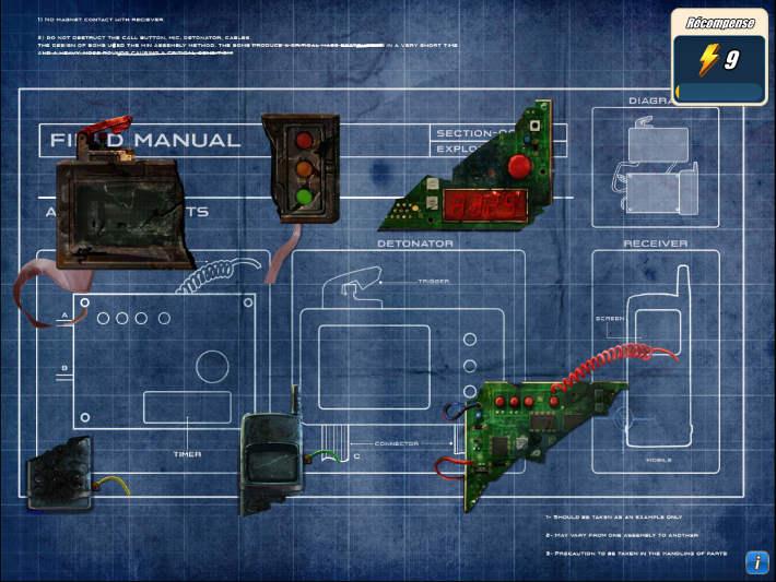 Mini jeu : reconstruire une bombe