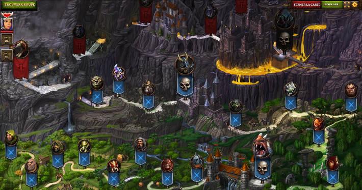 carte de sélection des missions