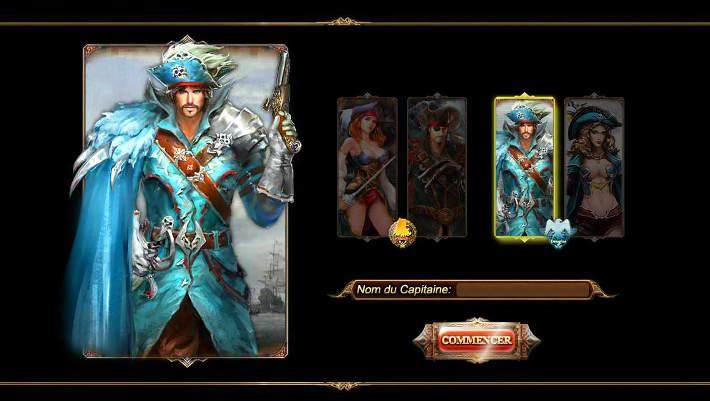 Quatre choix de pirates dans MyBlackSail