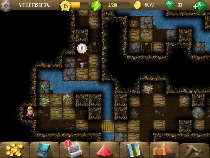 résoudre chaque puzzle en creusant : Diggy's Adventure