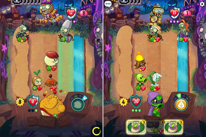 Bataille au tour par tour dans plants vs zombies heroes