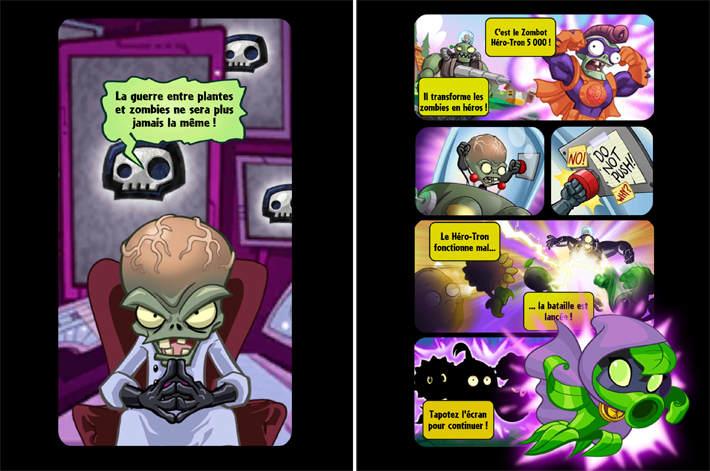 Histoire représentée à la façon d'un comics