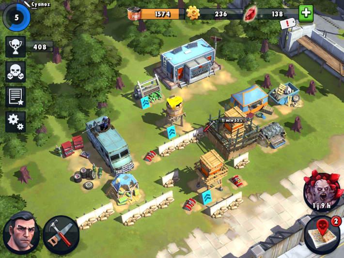 Le camp du joueur dans Zombie Anarchy