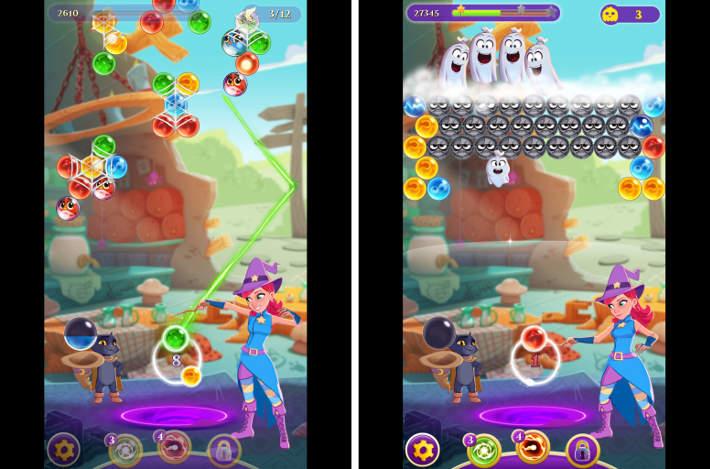 Deux niveaux avec objectifs différents : Bubble Witch 3 Saga