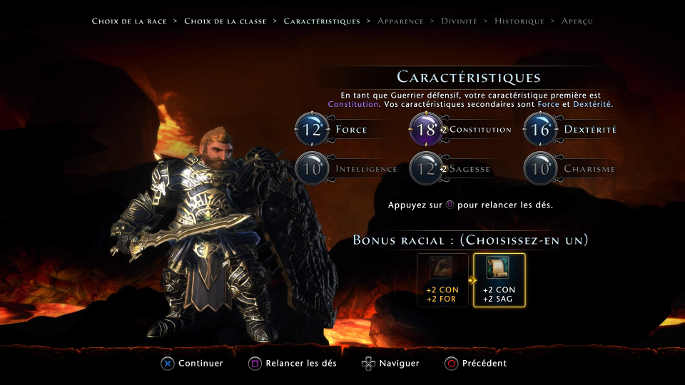 Neverwinter : Création du héros : Classe, race, origine, stats....