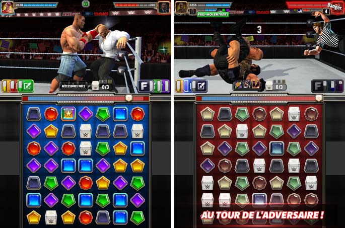 Combats dans WWE Champions