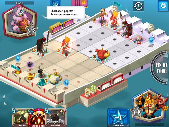 Le plateau de jeu dans Krosmaga