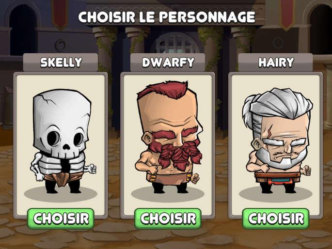 Choix du gladiateur