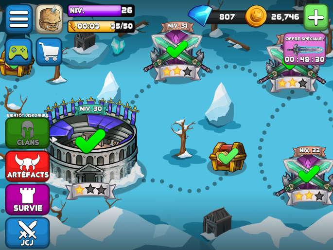 La Map dans Tiny Gladiators