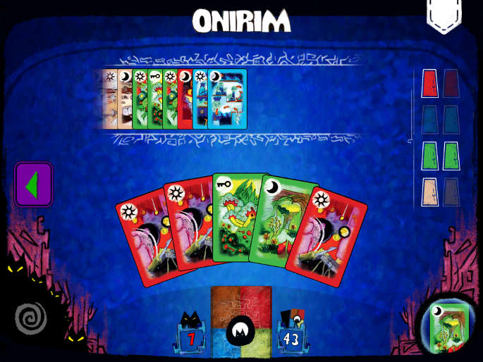 version IOS du jeu de cartes Onirim