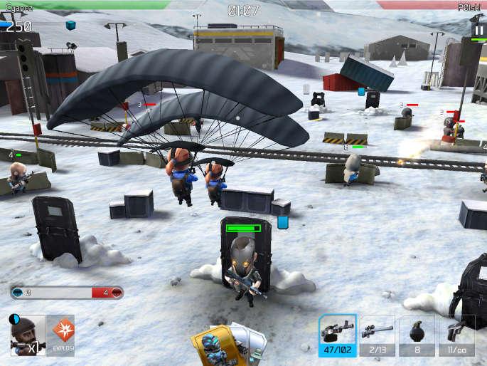 Les parachutistes dans Warfriends
