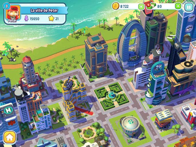 Exemple de ville dans City mania