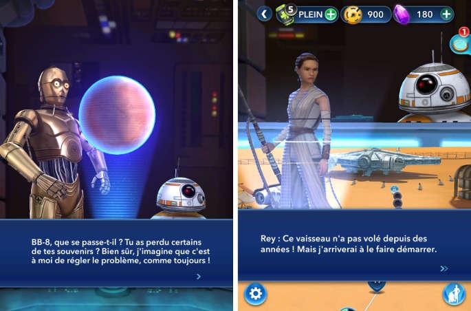 Histoire dans Star Wars Puzzle Droids
