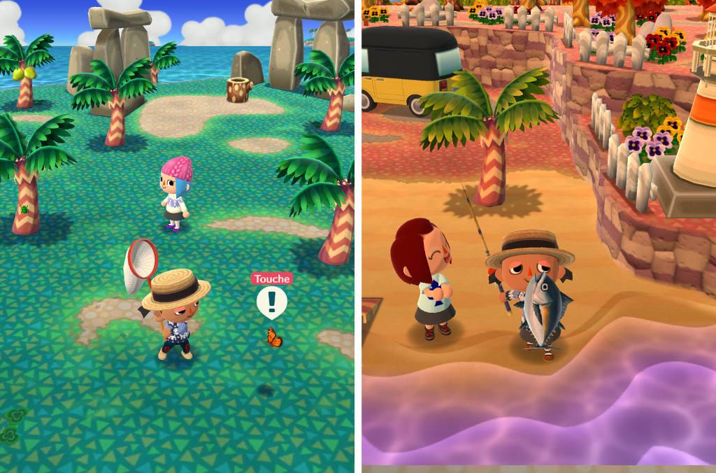 Chasse et pêche dans Pocket Camp