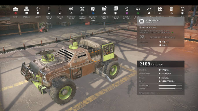 Mode Construction dans Crossout