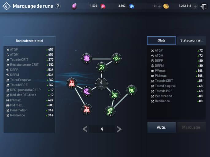 Runes dans Lineage 2 Revolution