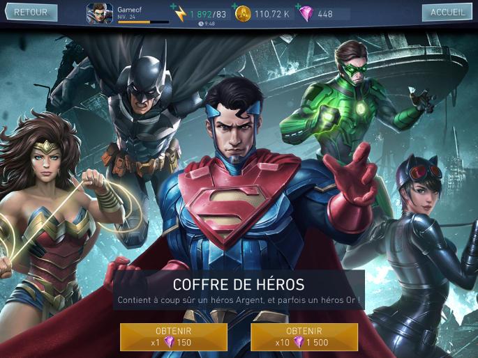 Acheter des coffres de héros (Loot Boxes)