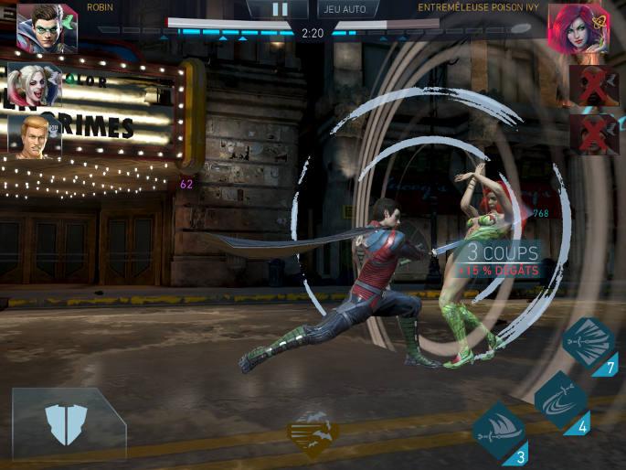 En plein combat avec Robin
