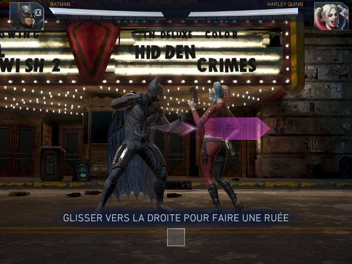 Tutoriel dans Injustice 2 sur mobile