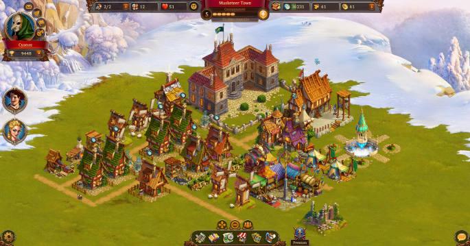Mon village dans Age of Musketeers