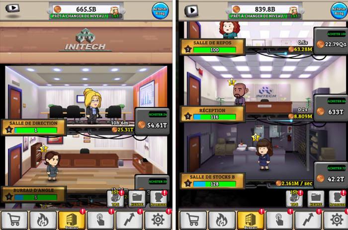 Les étages de l'entreprise : jeu Office Space