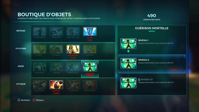 Boutiques d'objets in-game - Paladins