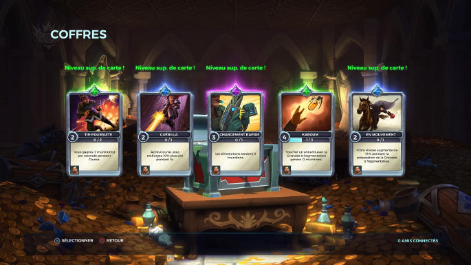 Cartes upgradables dans Paladins