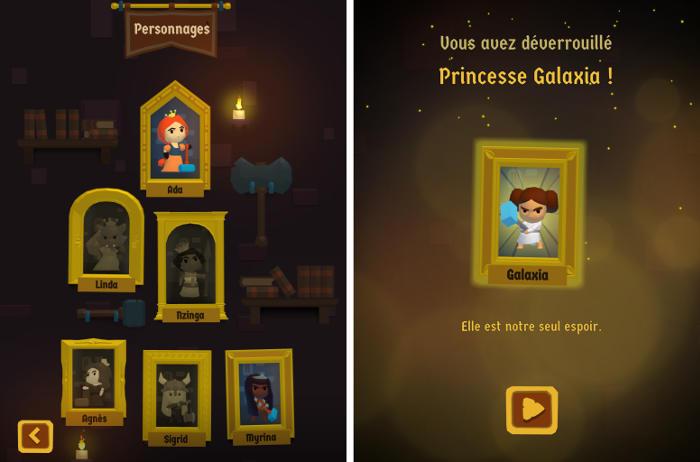 Débloquez toutes les princesses du jeu