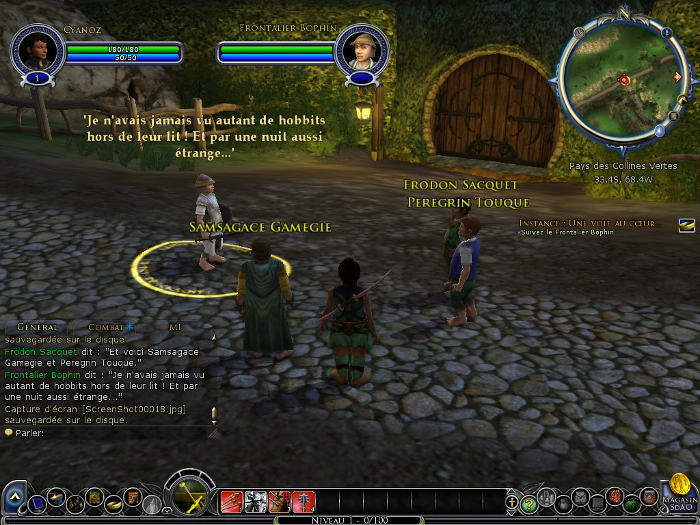 Frodon Sacquet dans Le Seigneur des anneaux Online