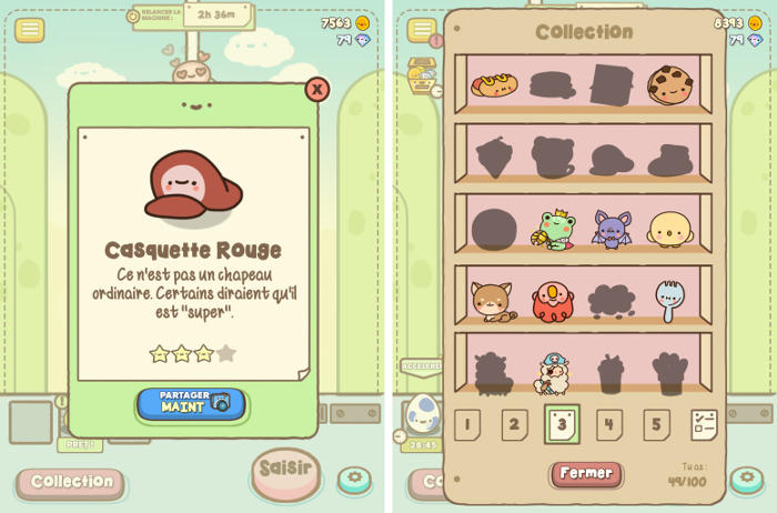 Collection de peluches dans Clawbert